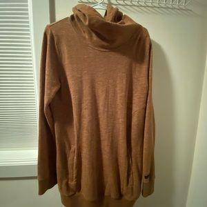 EUC Volcom long tunic cowl neck hoodie